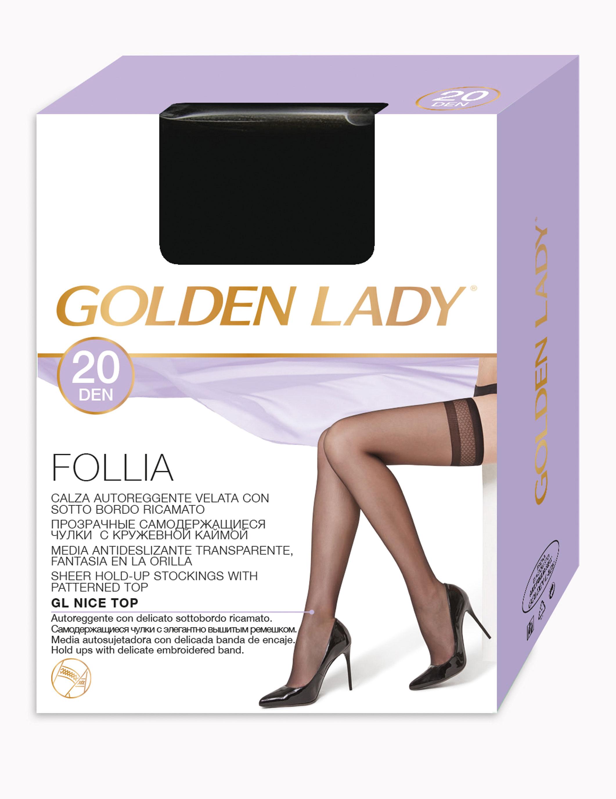 pretty nice c871e 81a11 10 PAIA AUTOREGGENTE GOLDEN LADY FOLLIA 20 DEN