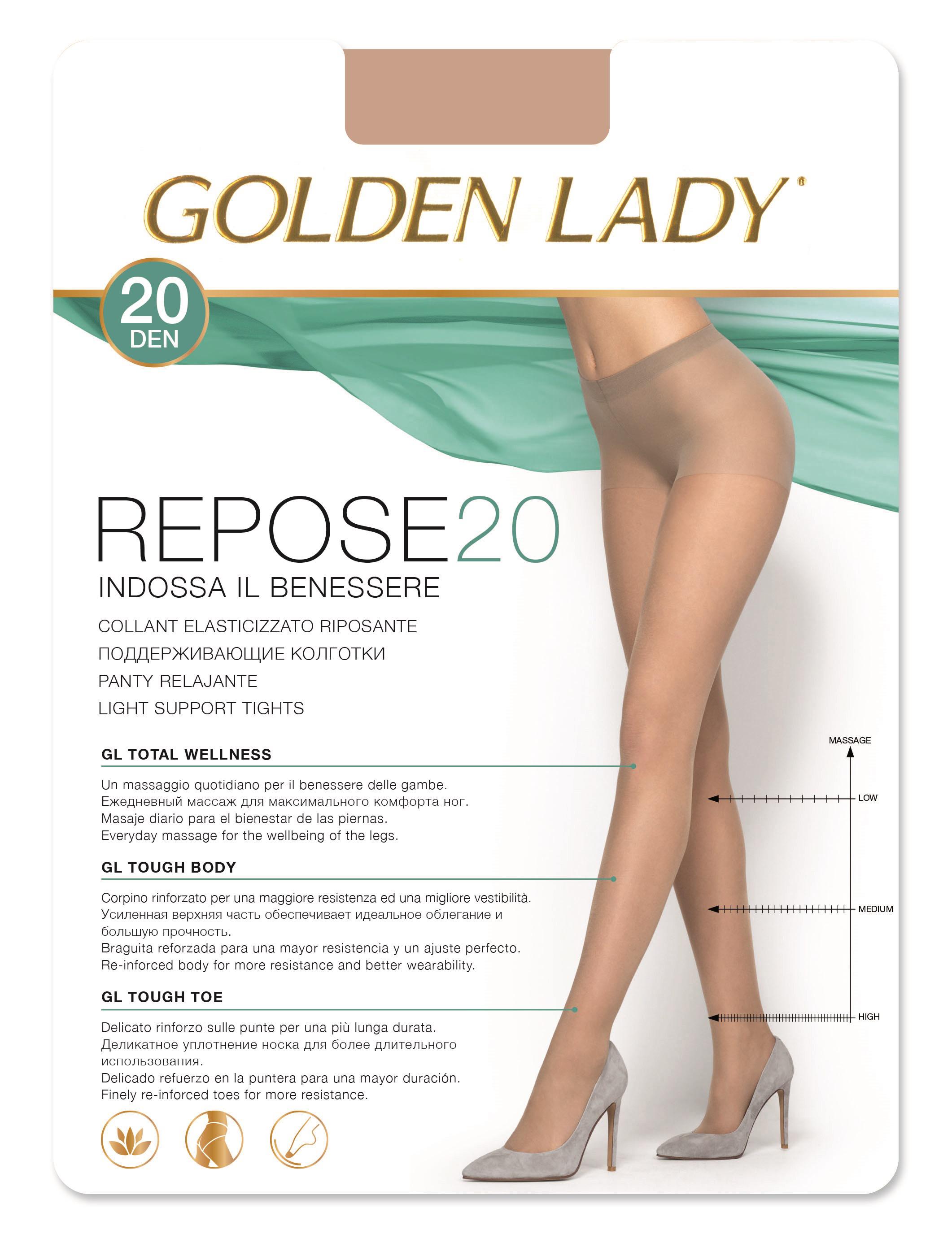 big sale b920c fa7c0 10 PAIA COLLANT GOLDEN LADY REPOSE 20 DENARI ELASTICIZZATO VELATO RIPOSANTE