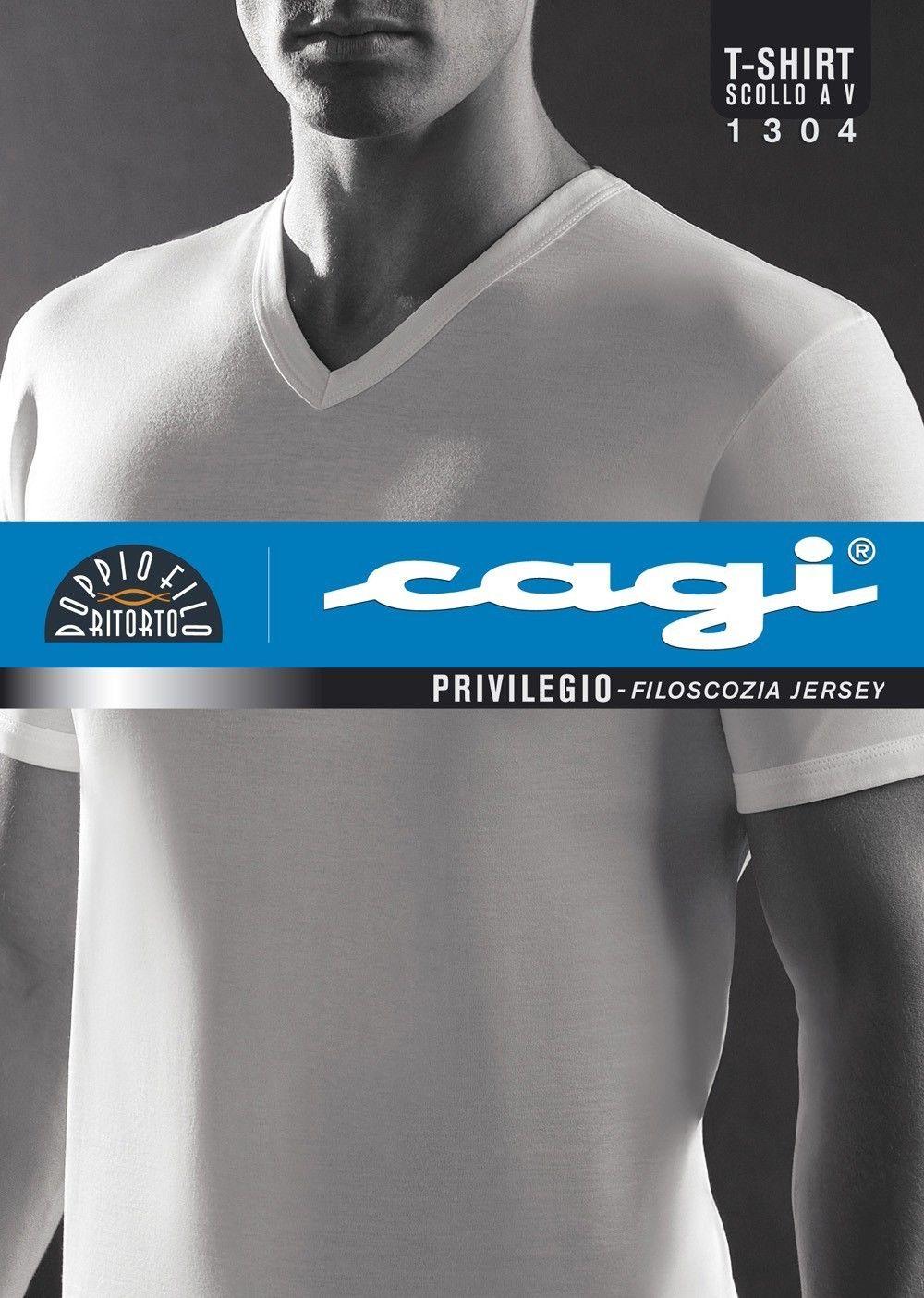 T Cagi Art1304 Scollo Filo 74 5 Shirt Scozia 6 A V Taglia Uomo Di vn0NOm8w