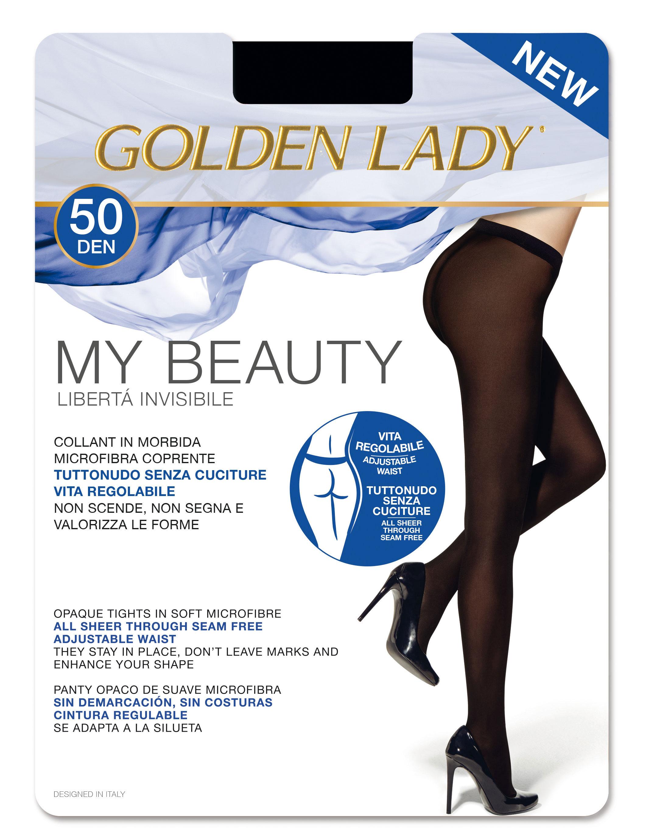 goldenpoint Collant Donna Senza Cuciture Microfibra 50 Denari