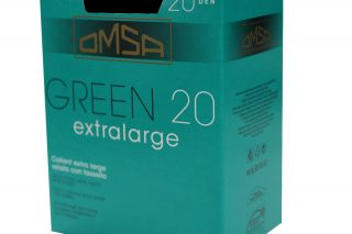 Omsa COLLANT EXTRA LARGE 20 DEN COLORE FUMO ART GREEN 20