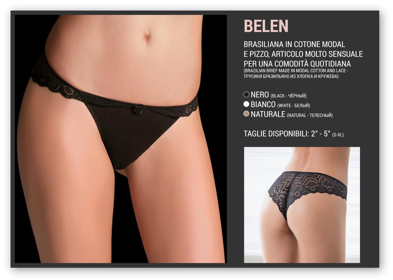acquisto genuino quantità limitata qualità del marchio SLIP DONNA BRASILIANA LOVE AND BRA ART. BELEN IN MODAL ELASTICIZZATO PIZZO  RETRO