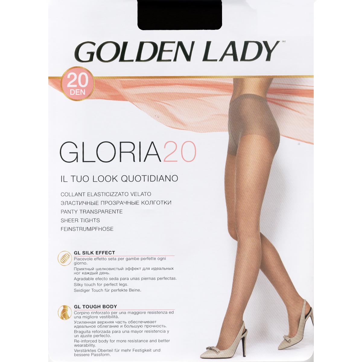 10 PAIA COLLANT GOLDEN LADY CIAO 20 TAGLIA 4 COLORE DAINO